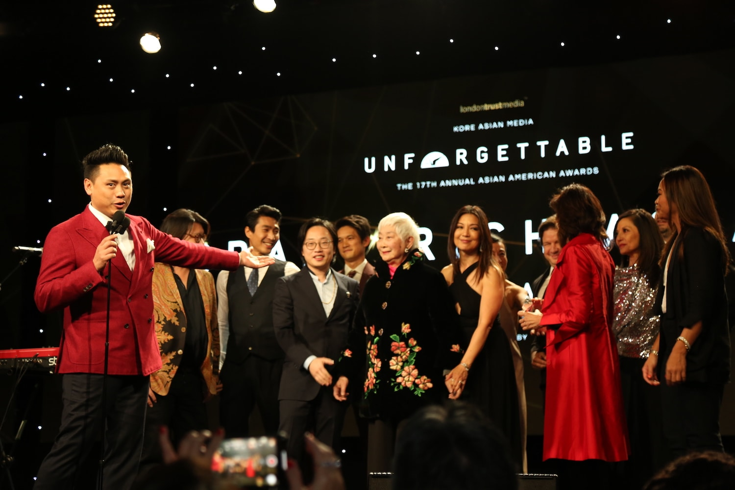 Actors on stage at the Unforgettable Gala