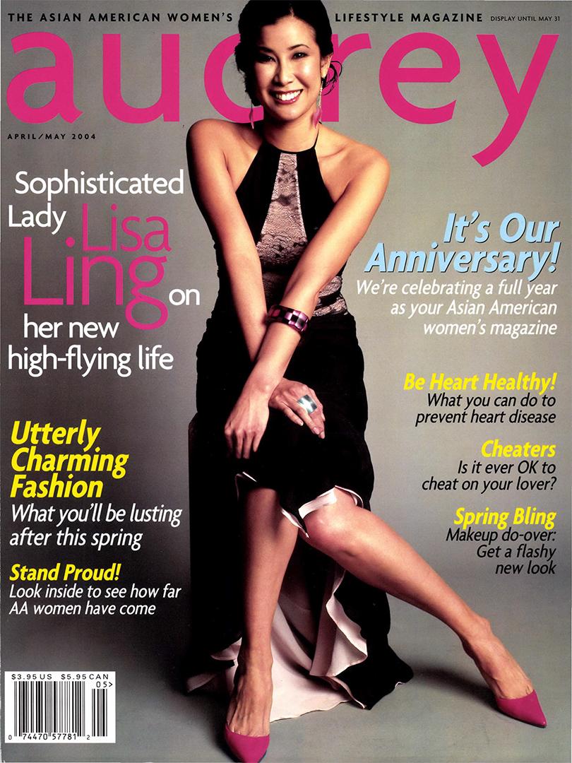 Audrey Magazine April 2004 Lisa Ling Cover