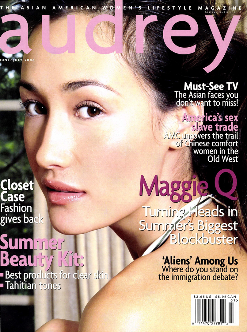 Audrey Magazine June 2006 Maggie Q Cover
