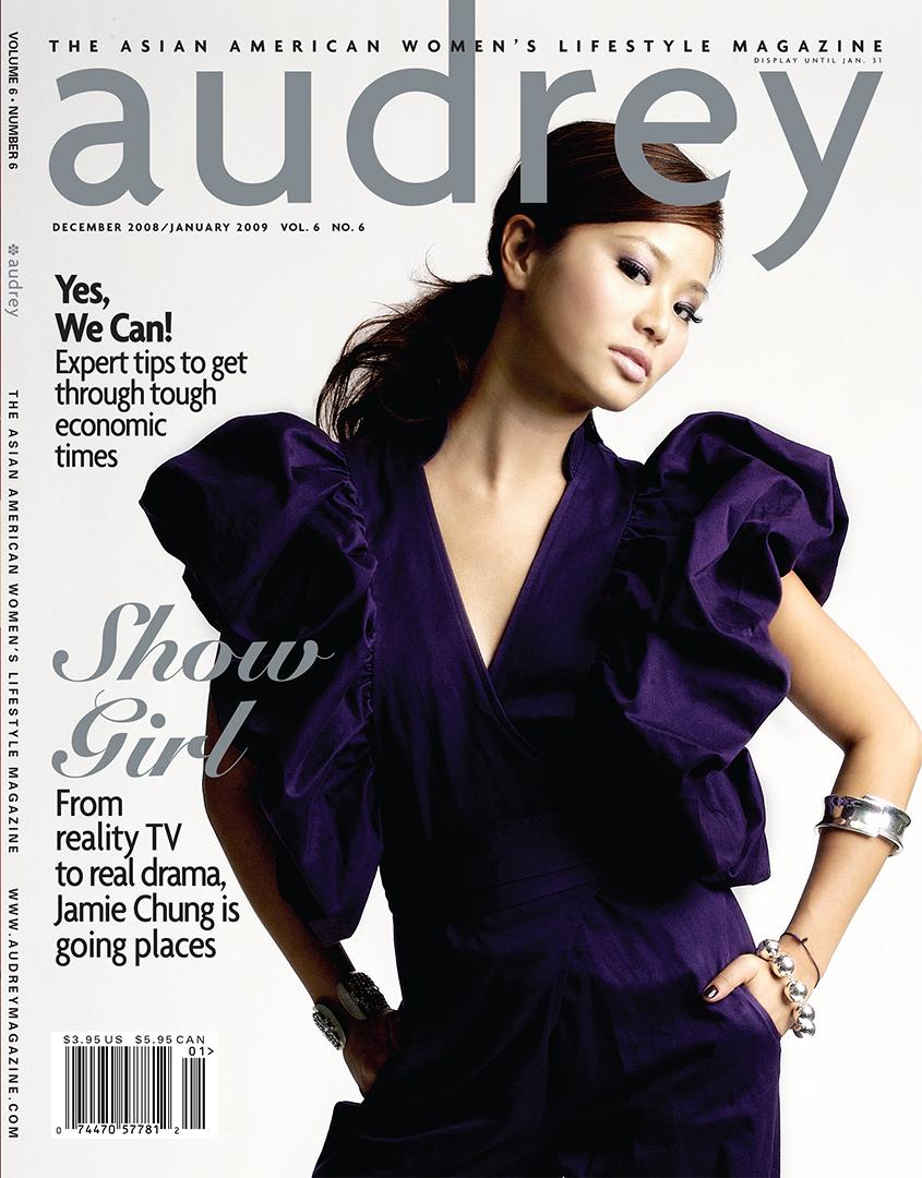 Audrey Magazine December 2008 Jamie Chung Cover