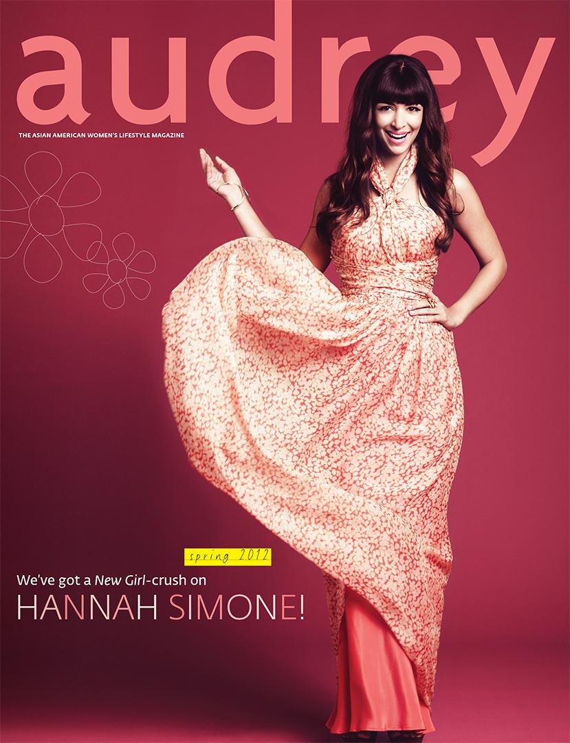 Audrey Magazine March 2012 Hannah Simone Cover