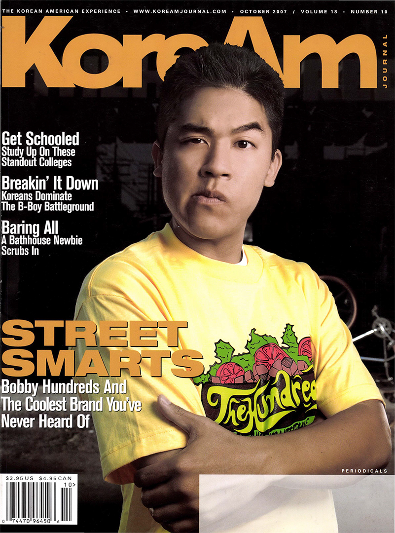 KoreAm Journal October 2007 Bobby Hundreds Cover