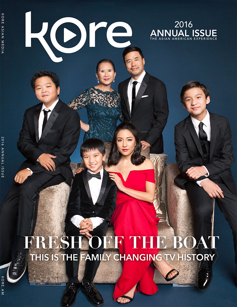 Kore Asian Media Annual 2016 Fresh Off the Boat Hudson Yang Ian Chen Lucille Soong Constance Wu Randall Park Forrest Wheeler Cover