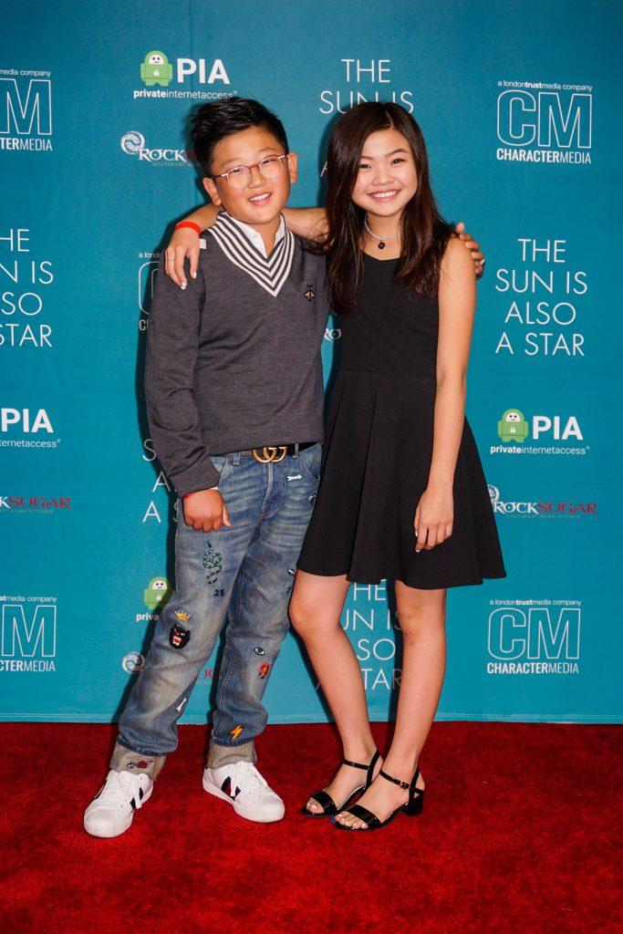 Emerson Min Miya Cech The Sun Is Also A Star Red Carpet Screening
