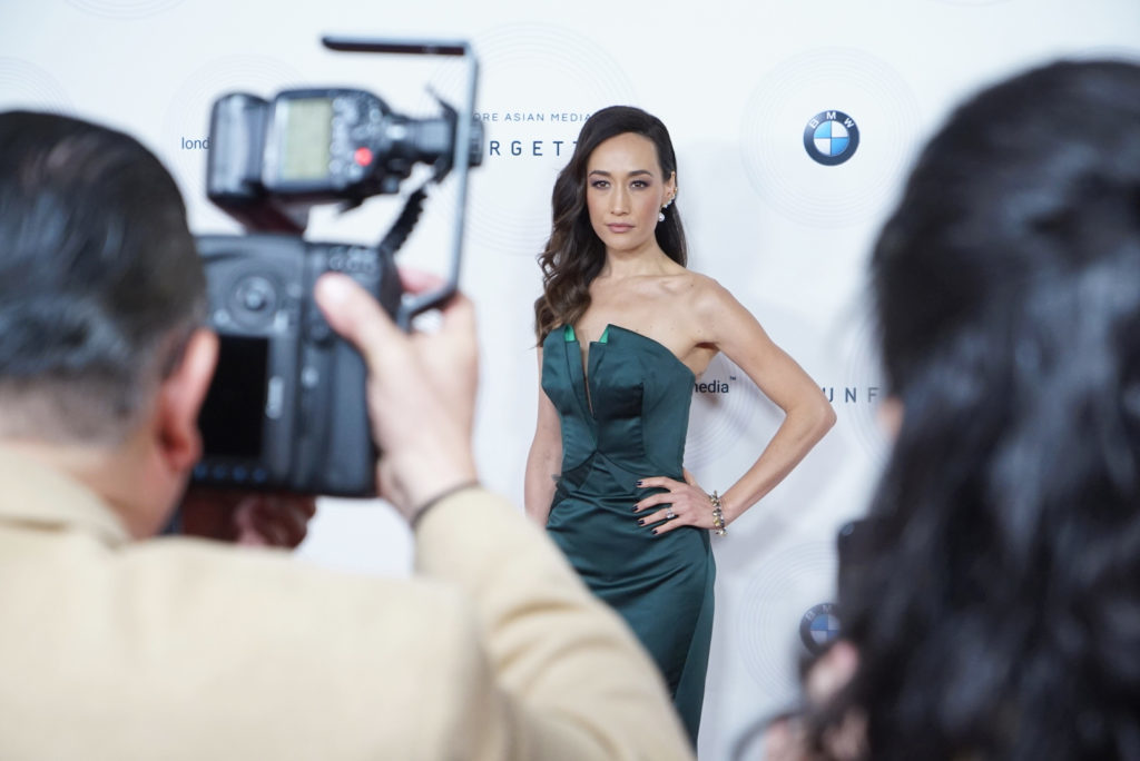 Maggie Q Red Carpet Unforgettable Gala