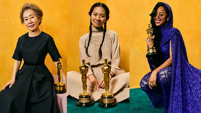 Oscars 2021 Asian Women Yuh-Jung Youn Chloe Zhao HER